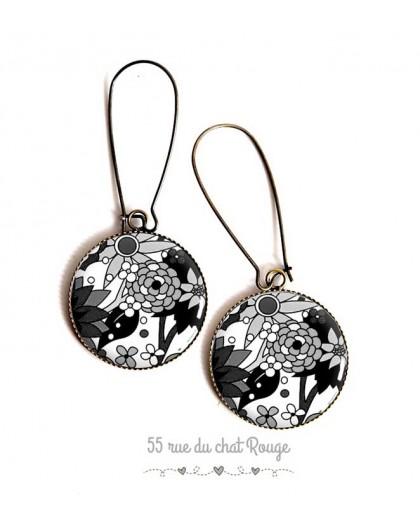 Black Epoxy Earrings