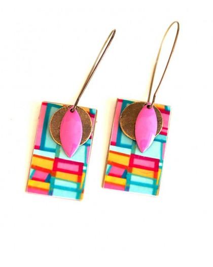 Earrings, pendant, fantasy, geometry pop, crafts