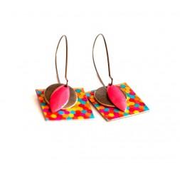 Ohrringe, Anhänger, fantasie, mehrfarbige, Süßigkeiten, Kunsthandwerk