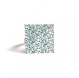 Square Ring, Gui luck, light green, dark green, bronze