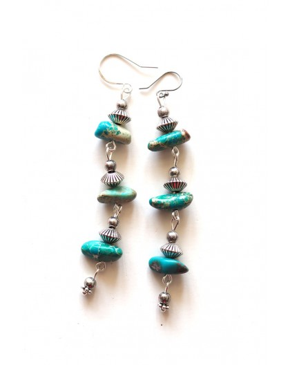 Earrings, Rhodonite