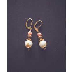earrings, golden rose 1900