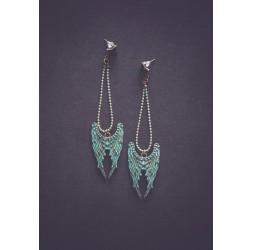 Angel wings earrings, vintage look