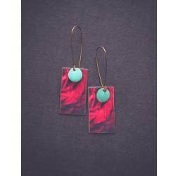 """Velvet red """"La Rose"""" earrings"""