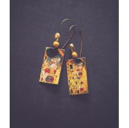"Gustave Klimt ""The kiss"" earrings"