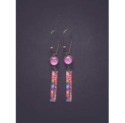 Boucles d'oreilles, Fleuri, colorée, style bohème, gypsy