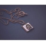 Halskette, Anhänger und Medaillon, Geblümte Rose, Kupfer