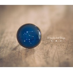 Women's artisanal ring, Constellation, Zodiac