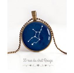 Collier pendentif Cabochon, Constellation, Zodiaque