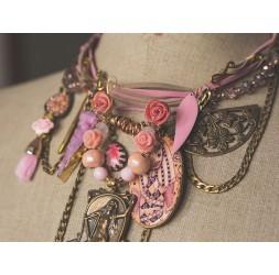 Große romantische, Veranstaltungen, die Frau mit der Harfe, rosa und Bronze