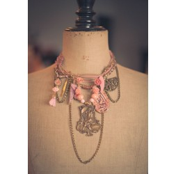 Grandi romantiche, eventi, la donna con l'arpa, rosa e bronzo