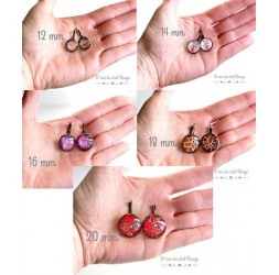 Ohrringe, gelb Mandala, Sonne, rot, Zen Geist, Schmuck für Frauen, Bronze