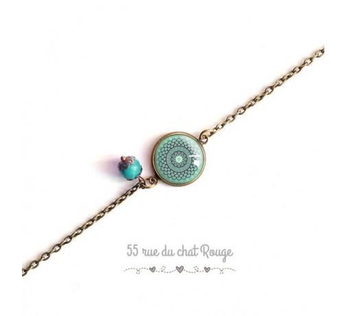 bracelet chaîne fine esprit marocain