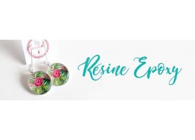 Epoxy resin earrings